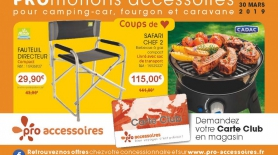 Promotions accessoires camping-cars et vans