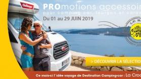 Promotions sur les accessoires de camping-cars et de vans aménagés - Juin 2019
